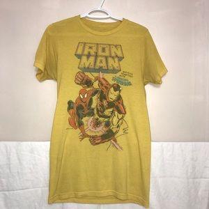 ❄️3/$50 Marvel Iron Man Yellow Graphic T-Shirt